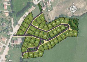 Plan de composition du lotissement Les Allées de la Sallesse à Bosmie-l'Aiguille